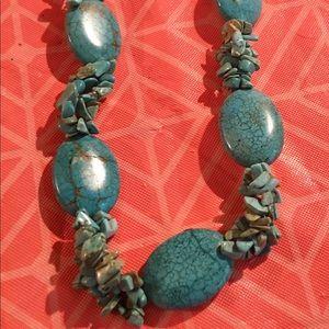 Turquoise stone necklace